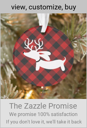 Plaid Dachshund Christmas Tree Ornament #doxiechristmasxmas #plaid #tartan #pattern #gifting #giftgiving #giftideas #Christmasplaid