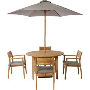 Garden Furniture 4 Seater malmo wooden 4 seater garden furniture set | garden furniture sets