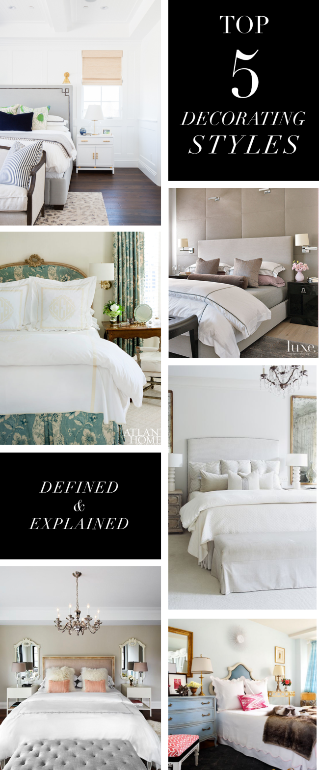 Exceptionnel Top 5 Decorating Styles And Bedroom Themes