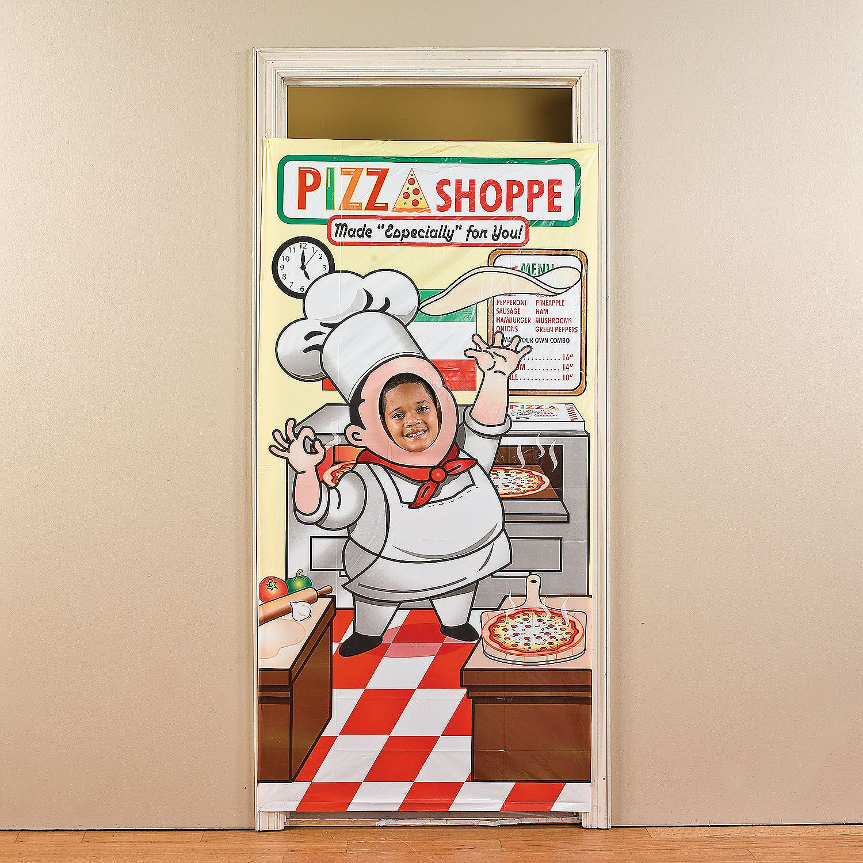 Coop's 6th bday party! Pizza Party Photo Door Banner - OrientalTrading.com