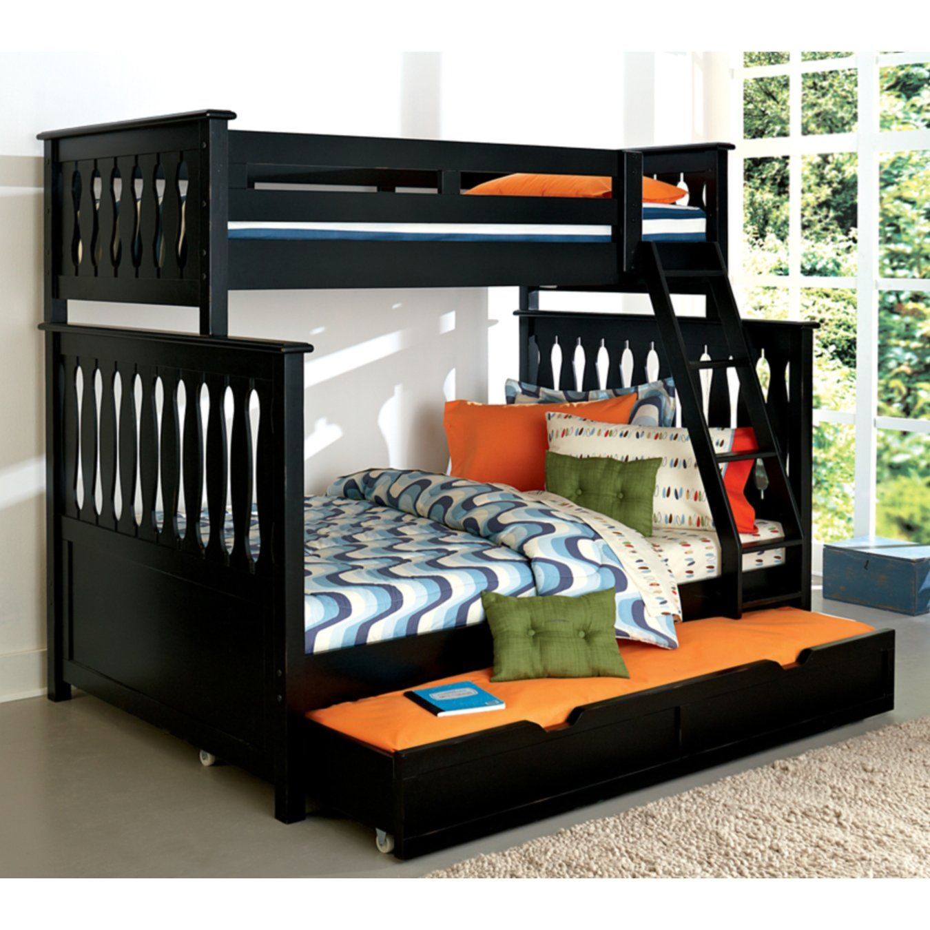 American Woodcrafters Weekends Twin Over Full Bunk Bed
