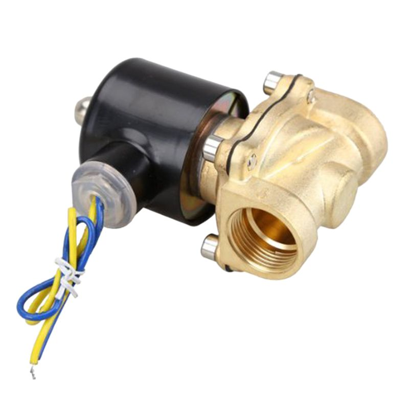 2w 200 20 3 4 Inch Brass Electric Solenoid Valve Water Air Fuels N C Dc 12v Valve Electricity Plumbing