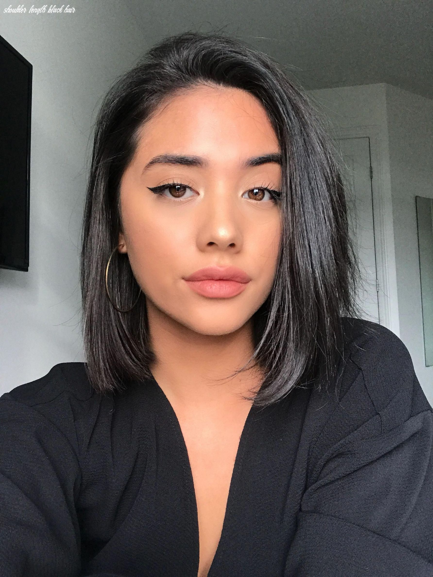 8 Shoulder Length Black Hair In 2020 Front Lace Wigs Human Hair Wig Hairstyles Short Hair Styles