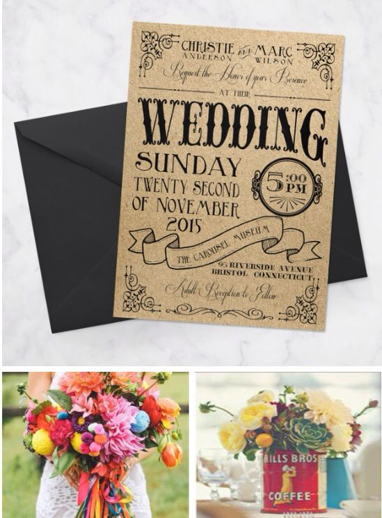 carnival wedding theme: invitations and wedding florals on bonhomieevents.com
