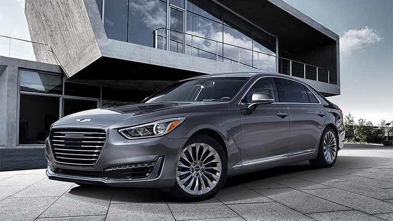 Genesis Bringing An Ev Concept And G90 To New York Auto Show Hyundai Genesis Luxury Sedan Hyundai