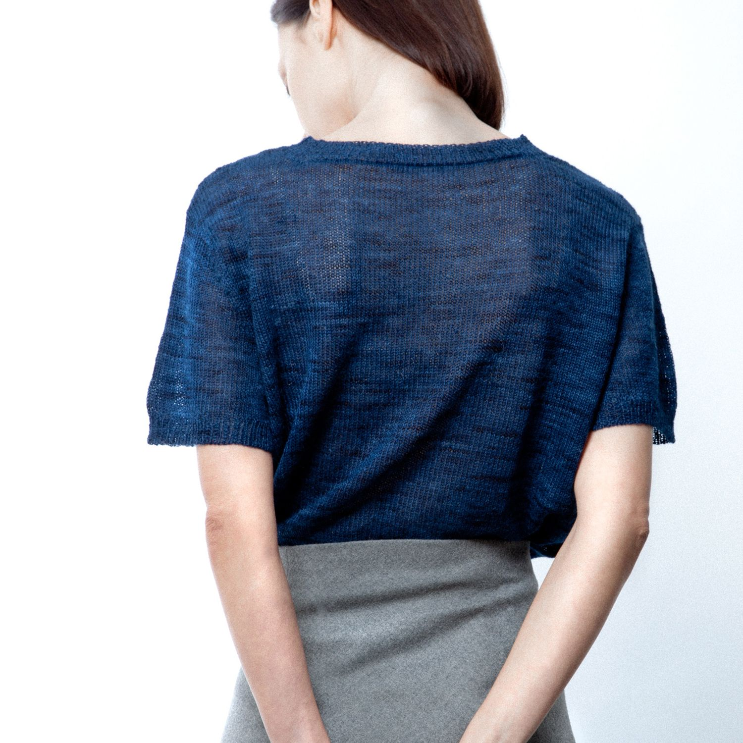Sheer knit top by KNITBRARY