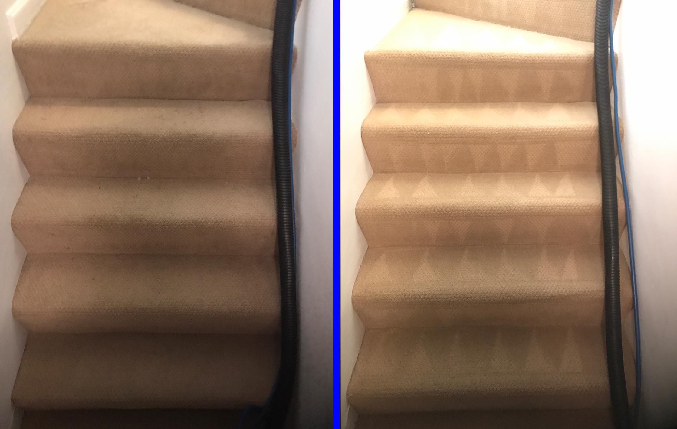 Denver Carpet Cleaning Before And After We Cleaned A Set Of Stairs