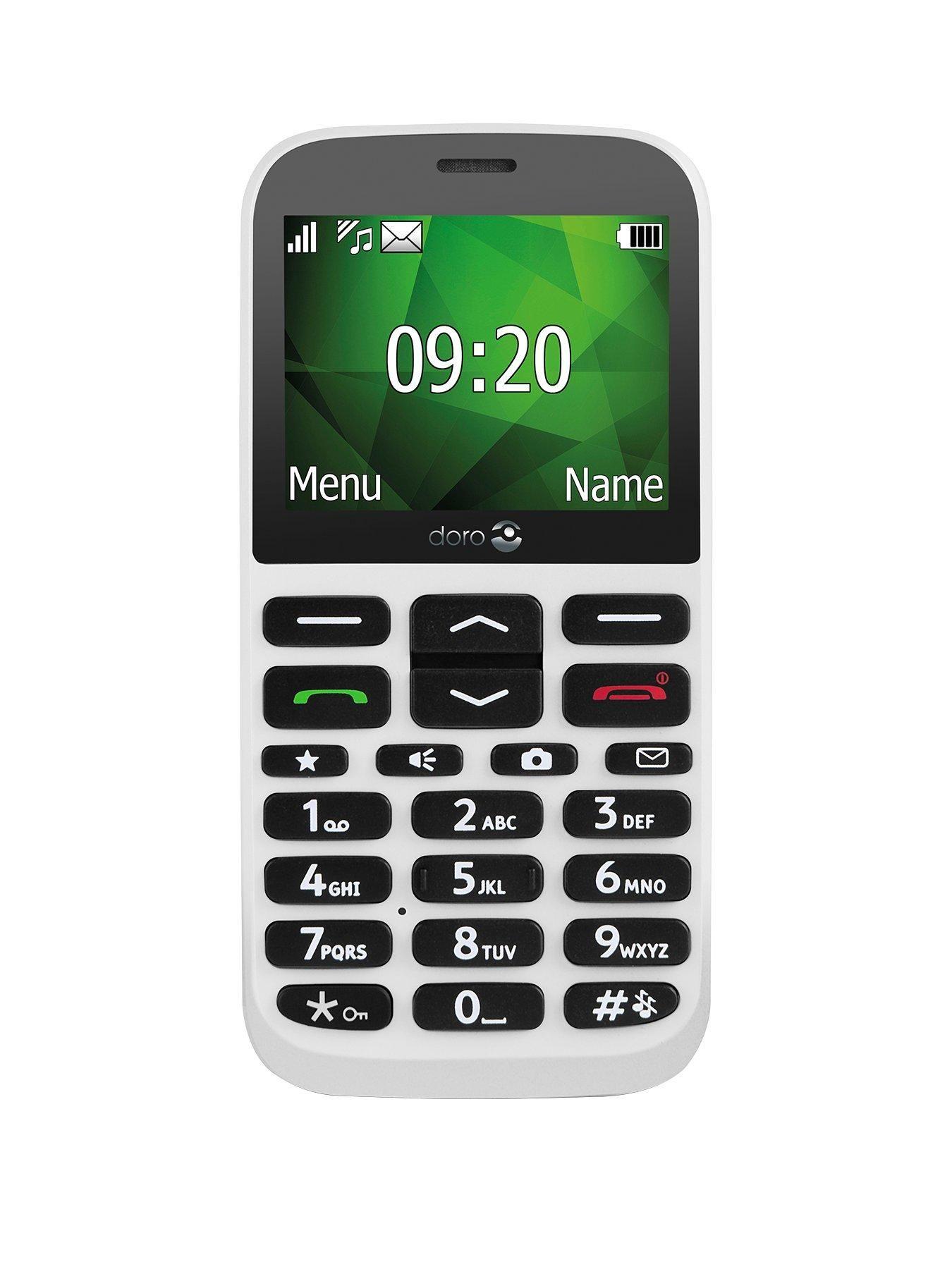 Doro 1370 White Free mobile phone, Phone, Camera phone
