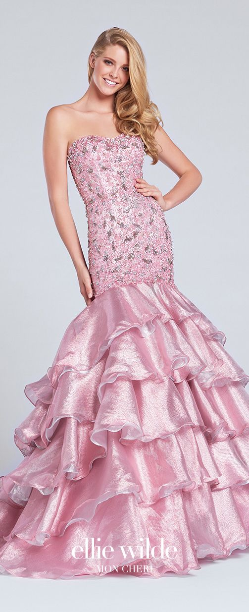 EW117153 | Pinterest | Tiered skirts, Trumpets and Prom