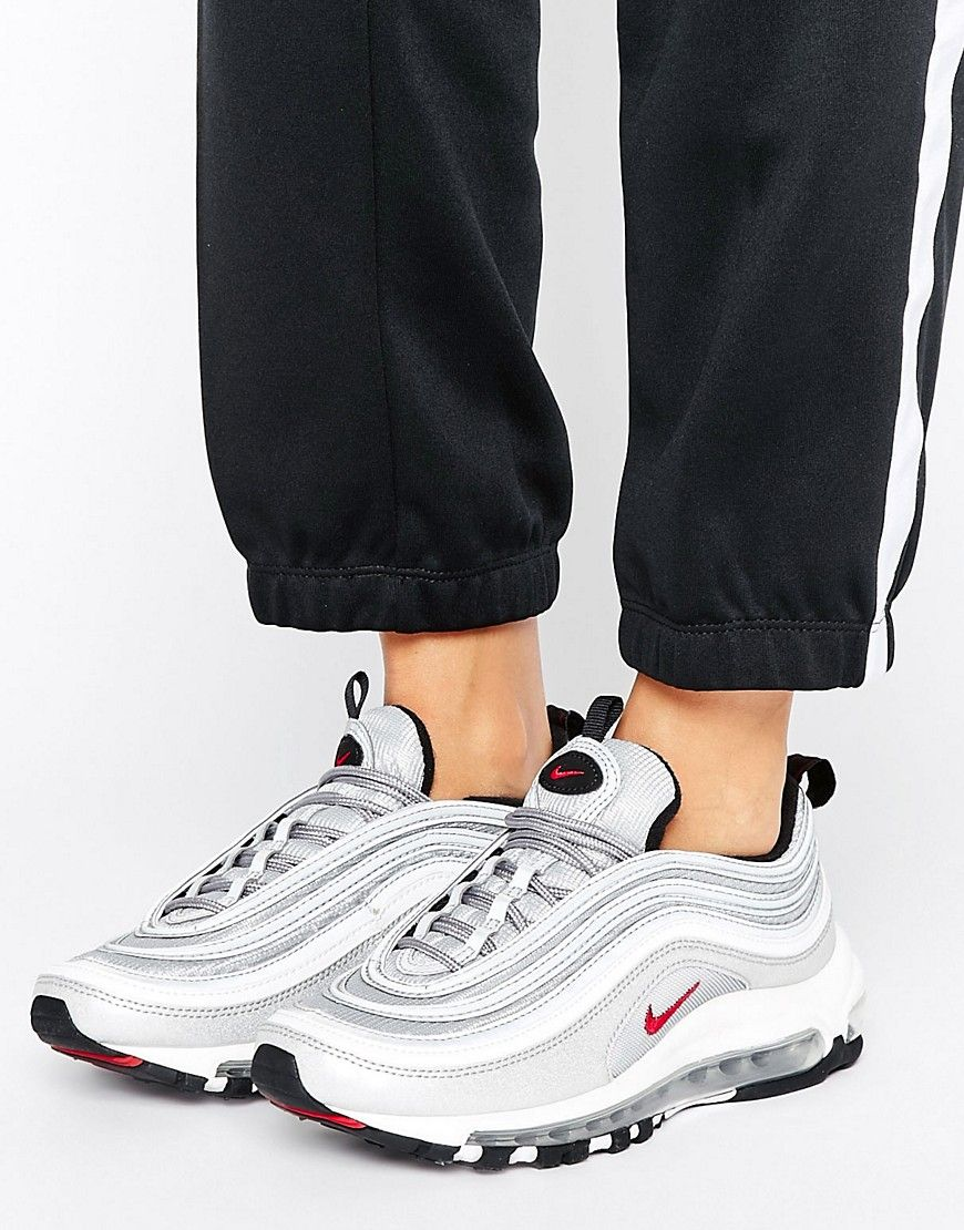 Buy It Now Nike Air Max 97 Silver Bullet Trainers Silver Trainers By Nike Breathable Mesh Upper Faux Leather Overla Nike Air Max 97 Nike Air Nike Air Max