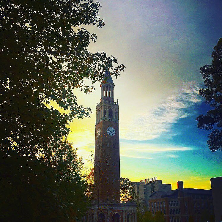 A Carolina sunset is a great way to end any day. #UNCAlumni #TARgram alumni.unc.edu by uncgaa