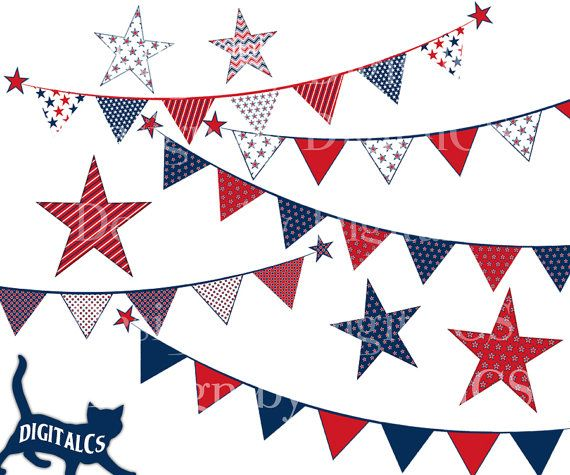 4th Of July Clipart Clip Art Independence Day Digital Png Etsy 4th Of July Clipart 4th Of July Clip Art