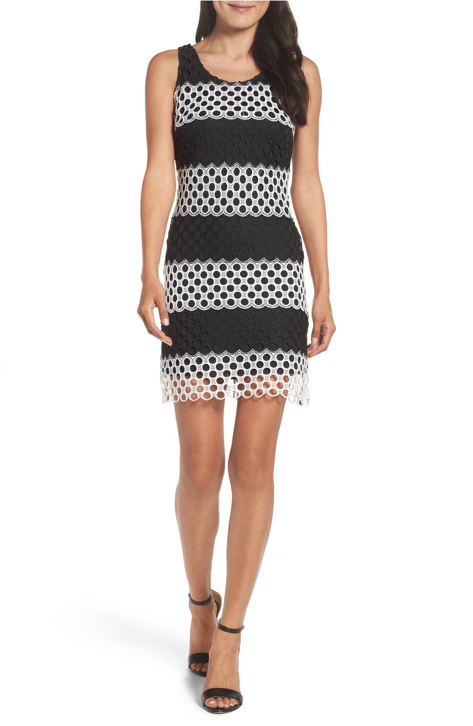 Main Image - Taylor Dresses Lace Sheath Dress