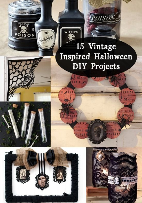 15 vintage halloween diy projects - Diy Halloween Projects