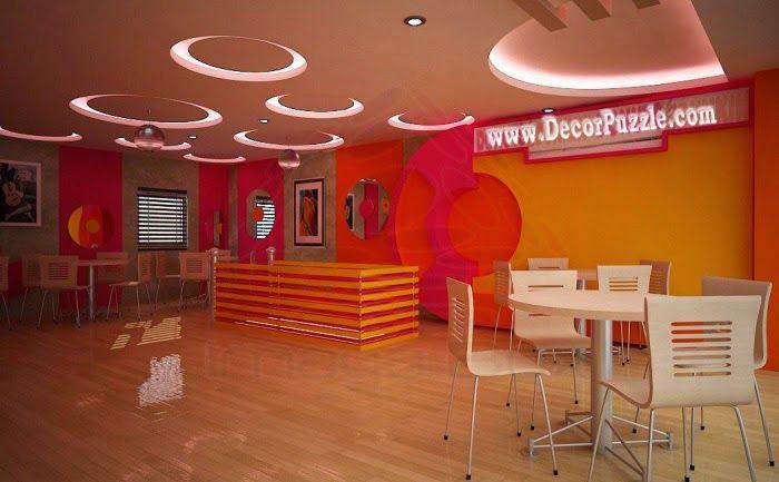 Plaster of paris designs for office ceiling and lights for Office roof ceiling designs