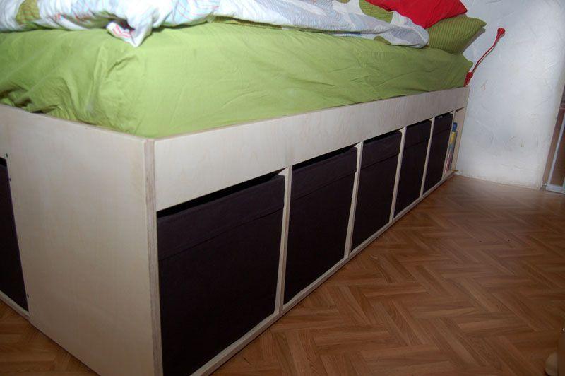 Storage Bett Bett Bett Mit Stauraum