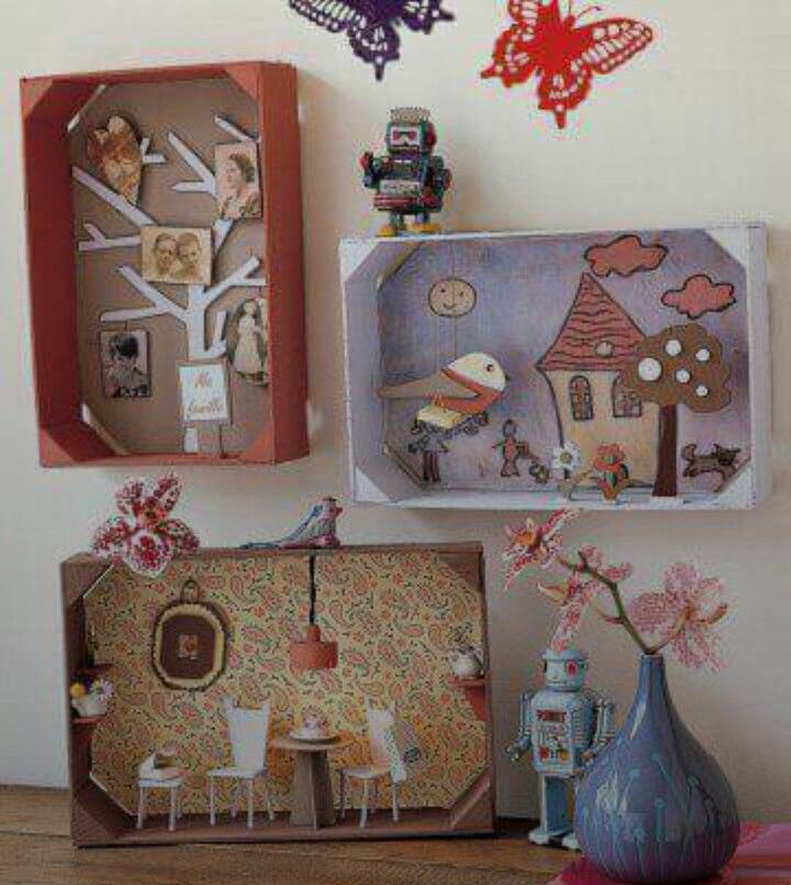 Ideas To Decorate A Box Casette Di Legno Decorate  Embroidery Pinterest  Shoebox