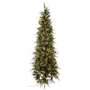 Deck The Halls This Gorgeous 7 1 2 Slim Arizona Fir Tree With Lights Is The Perfect Foundation For All Of Your Yuletide De Slim Christmas Tree Tree Slim Tree