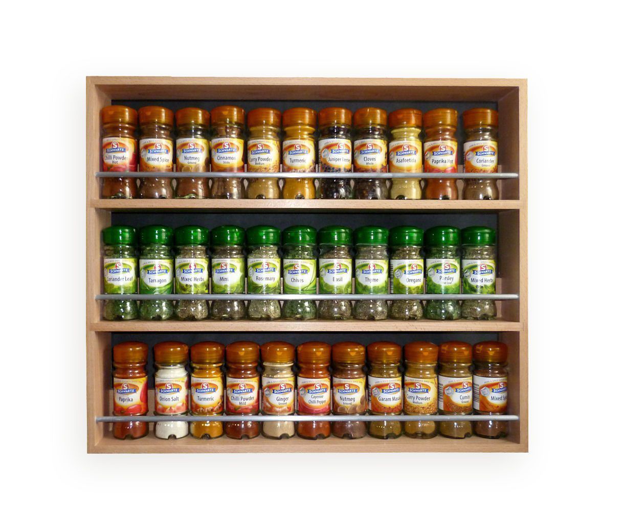 Awesome Contemporary Style Solid Beech Spice Rack 3 Tiers / Shelves U2013  SilverAppleWood
