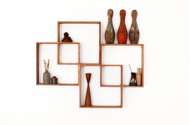 4 Shadow Box Display Cabinet To Display Your Treasures. Wall Hanging Shelf  / Shelves Solid Wood Art Retro Modern Vintage Handmade Industrial By Senkki  On ...