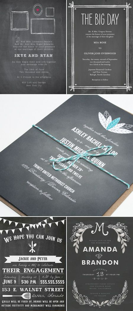 Cutandpaste Subject Chalkboard 01 Wedding Invitation