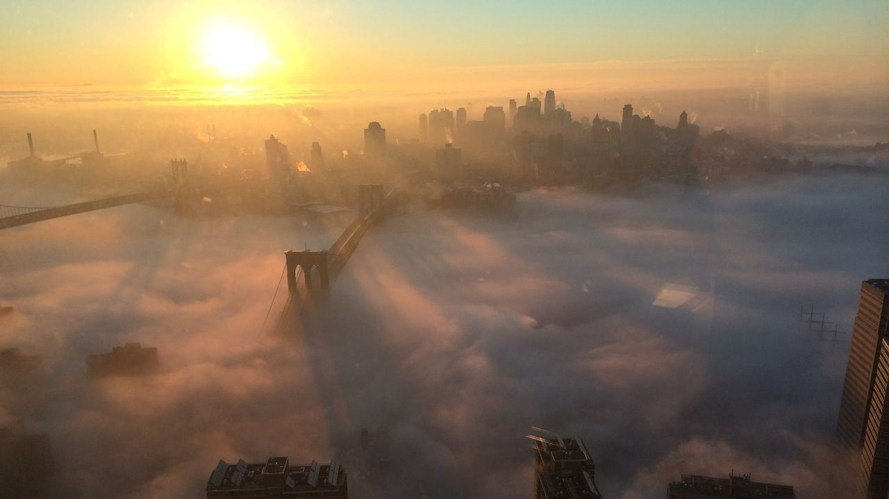 Manhattan Nyc Fog With Images Photo Creepy Fog Landscape
