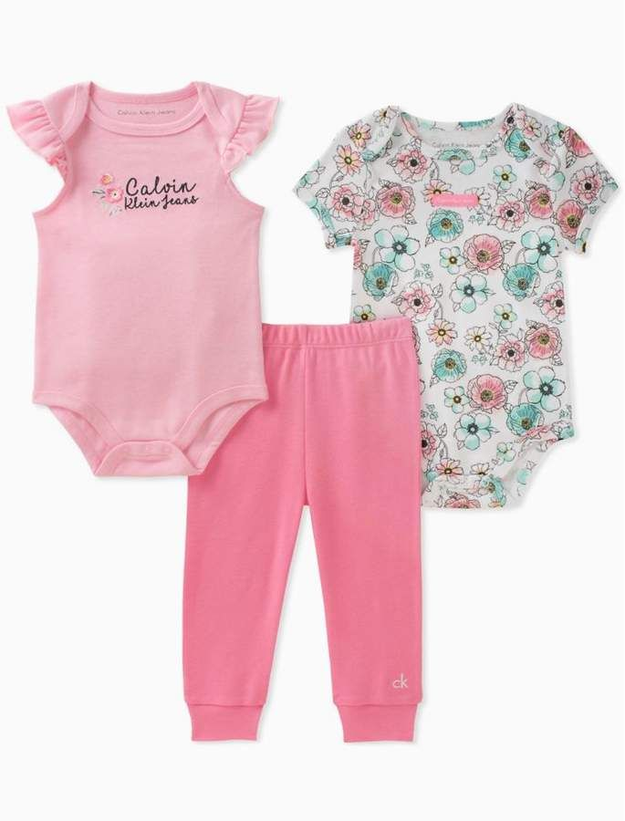 c948b1bafca09 Girls 2-pack floral onesies + leggings | Products | Onesies, Baby ...