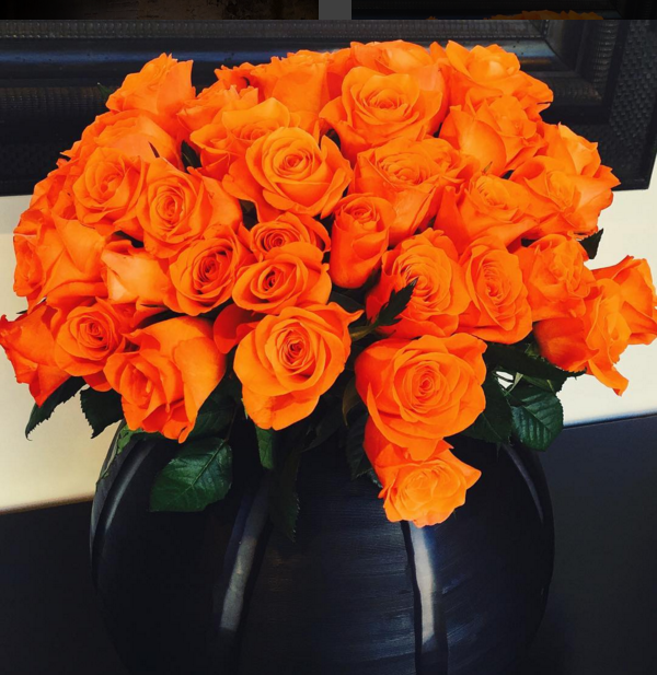We love going to the early morning Flower Markets to fill the shop with bundles of beautiful flowers. This weeks choice, bright orange and hot pink roses