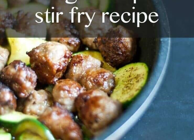 Sausage and Summer Squash Stir Fry #healthystirfry