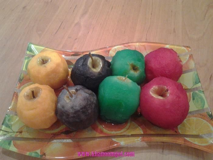 دسر سیبهای رنگی Fruit Apple Thread