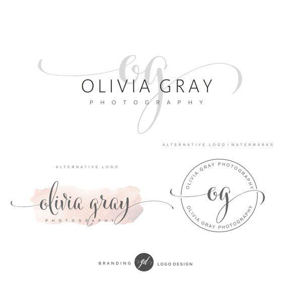 Paquet de logo de photographie, premade initiales logo, kit de marque, conception de logo blog, filigrane, timbre, paquet d'affaires sur mesure, paquet de logo, 15