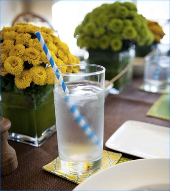 flowers, and look at those coasters! @Kate Zebrowski