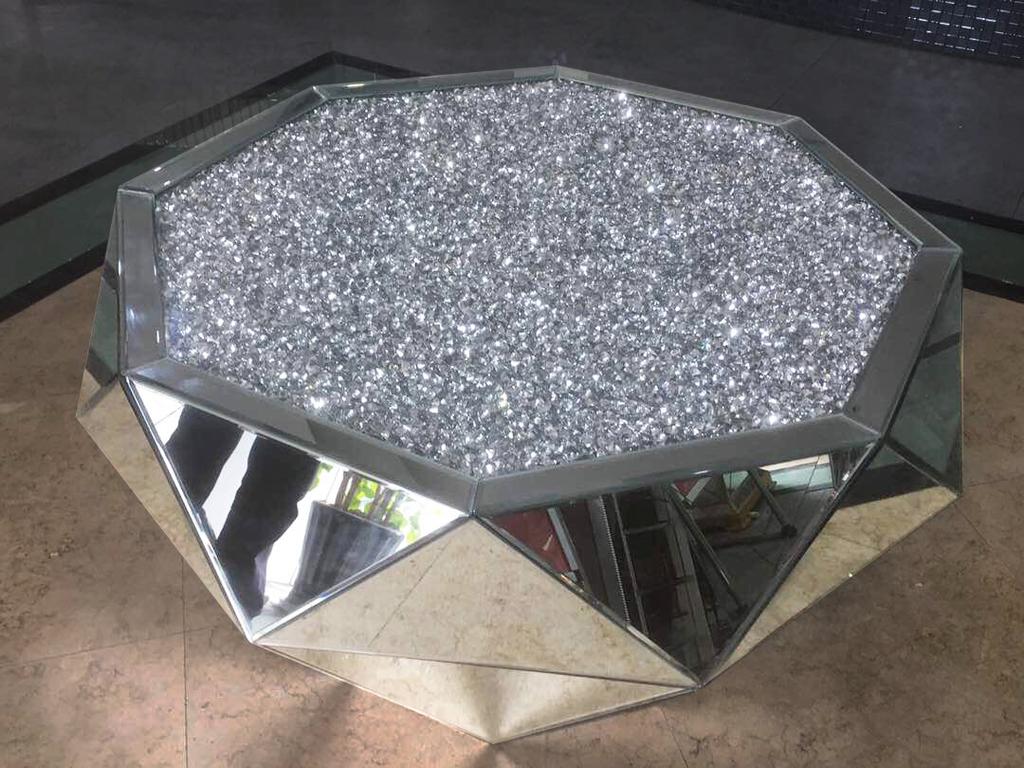 House Of Sparkles Diamond Crush Classic Mirror Coffee Table