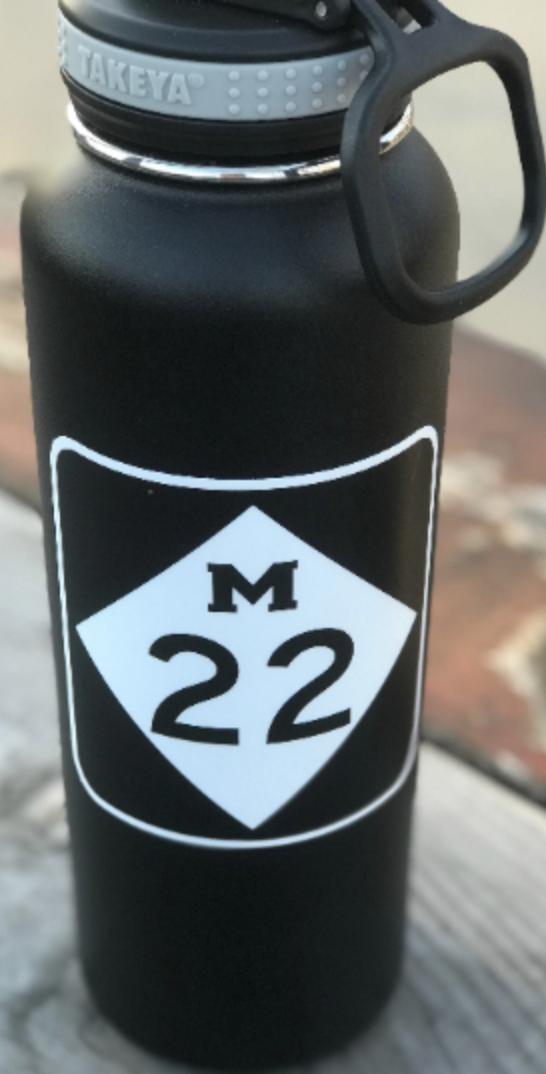 Michigan Highway M22 Vinyl Sticker • State Sticker • Travel
