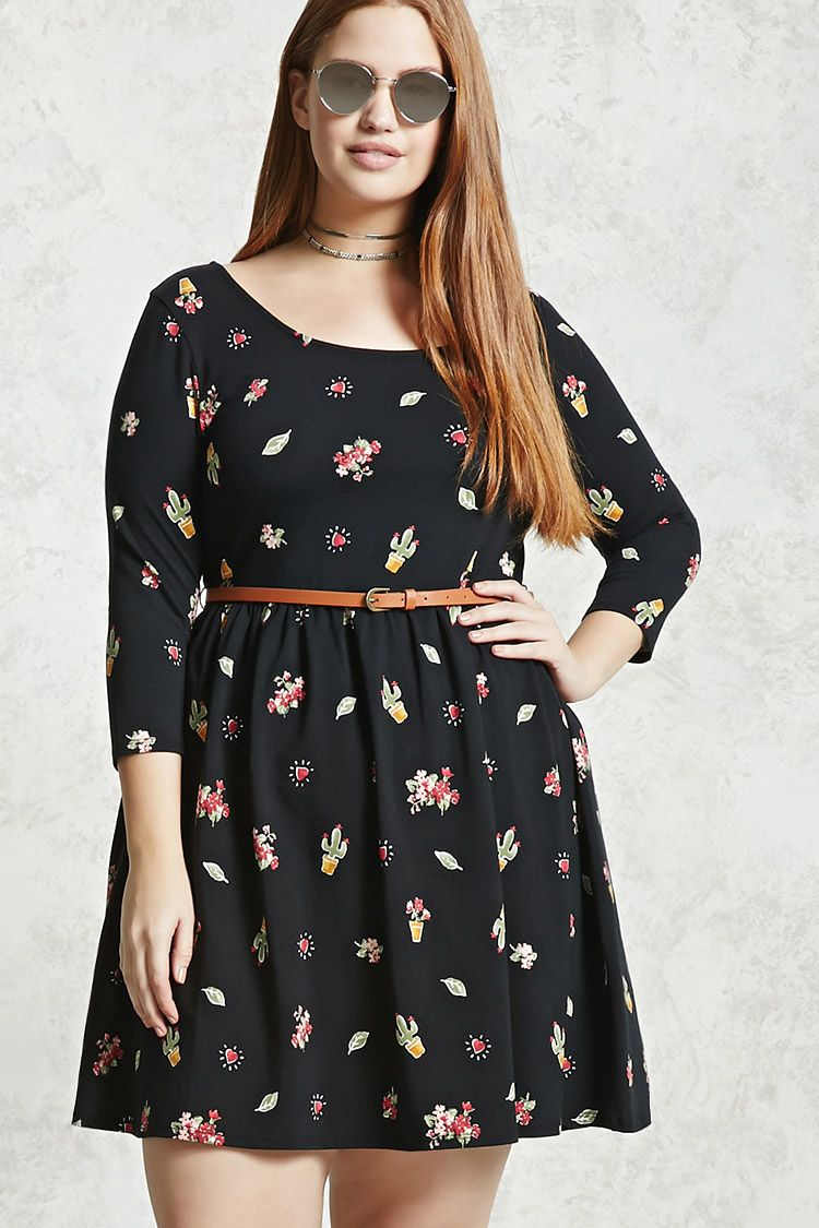 plus size fit and flare dress | legere sommerkleider