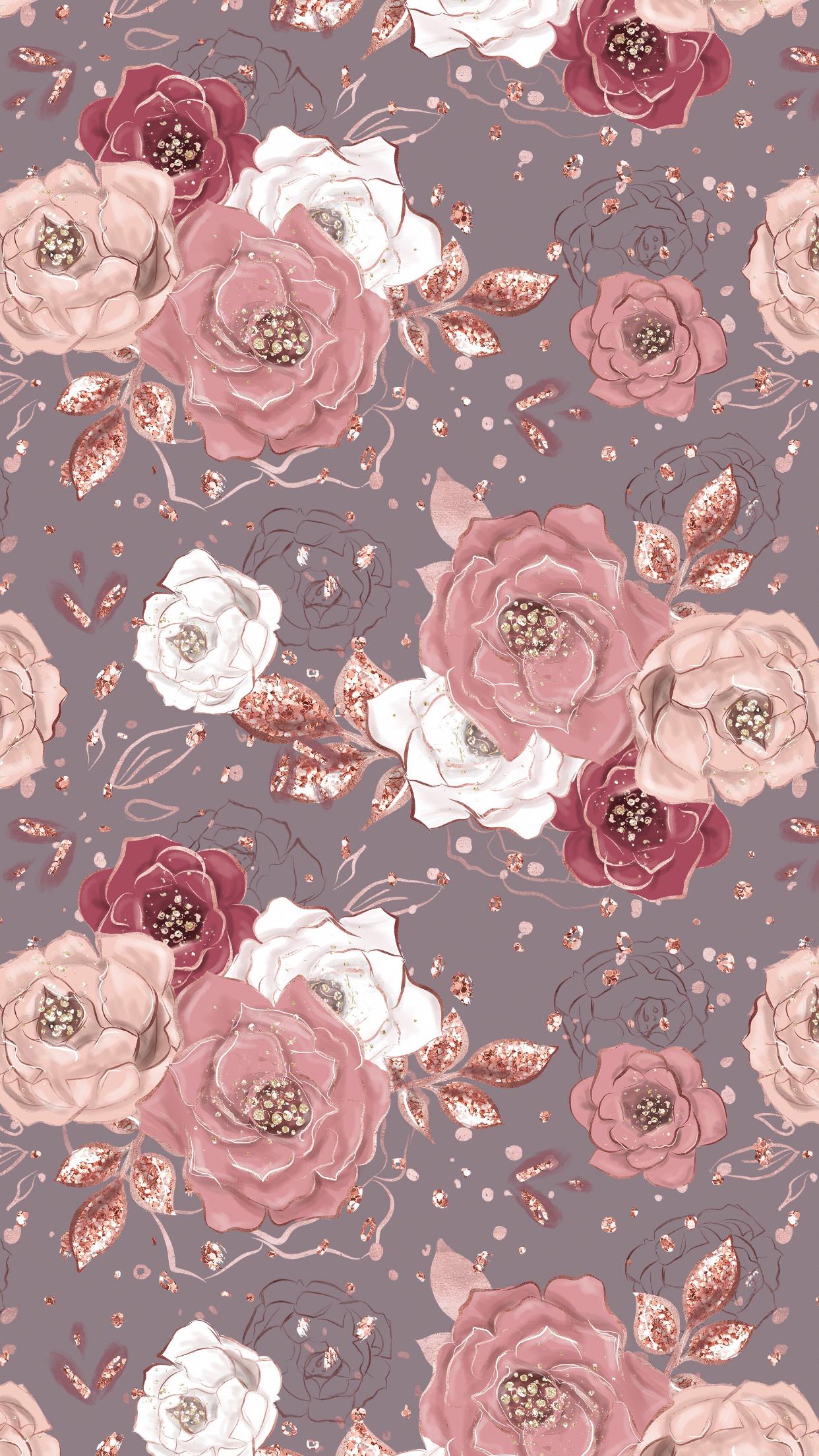 Wallpaper Iphone Flowerswallpaperiphone Flower Wallpaper Pretty Wallpapers Rose Gold Wallpaper