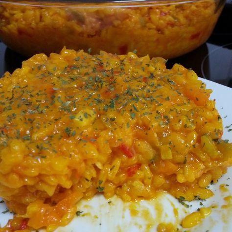Arroz con verduras II (Poner 500 g de caldo y 175 de arroz y no triturar alcachofas)