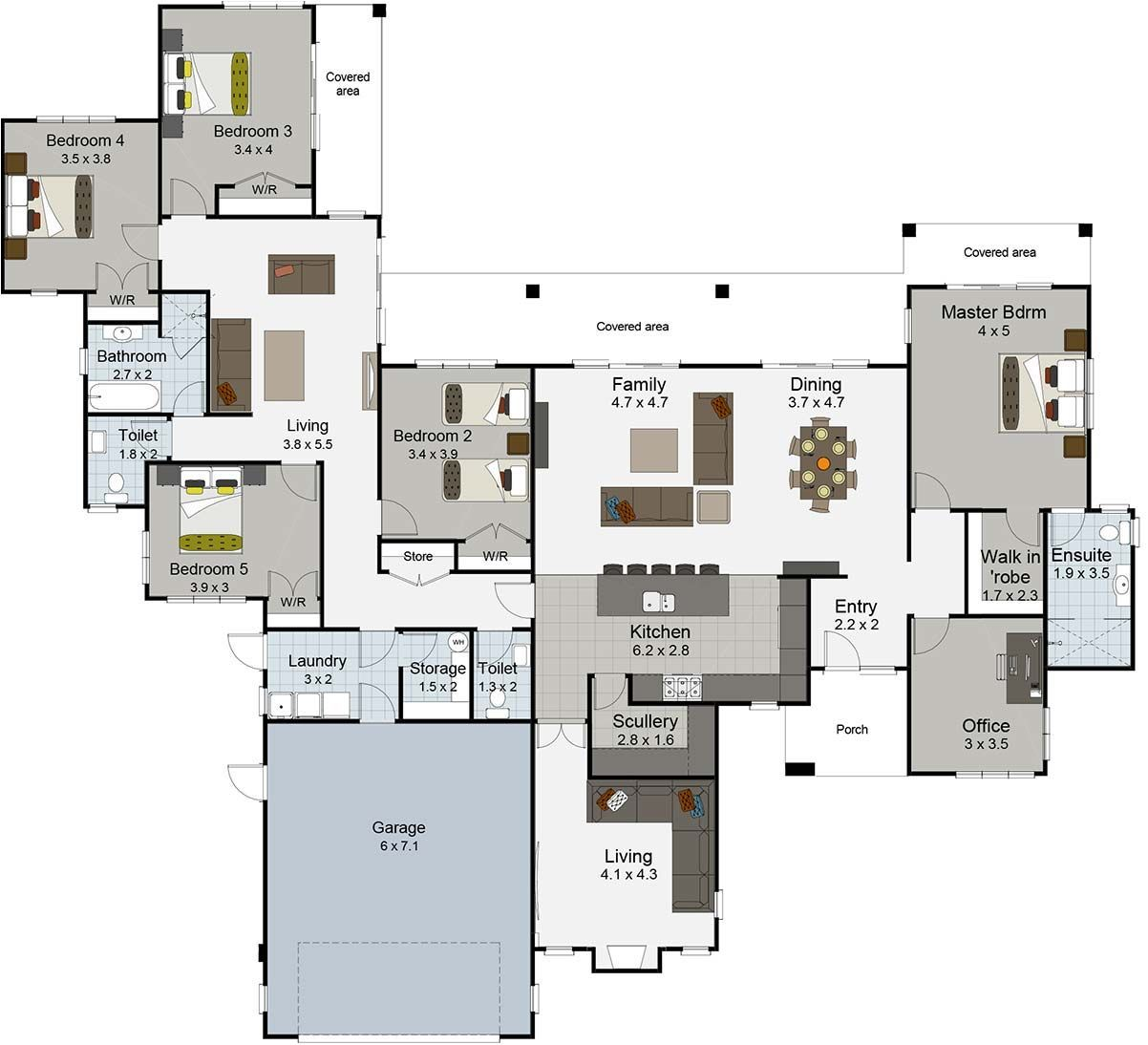 Spectacular Large House Floor Plans Nz From Landmark Homes Landmark Homes 5 Bedroom House Plans 2 Stor 5 Bedroom House Plans House Layouts House Floor Plans