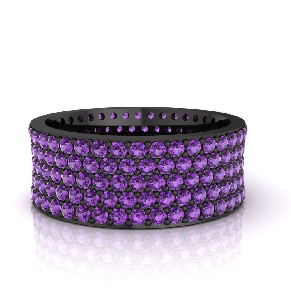 purple wedding rings for her