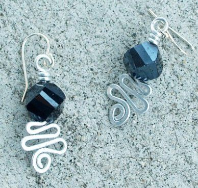 Free Wire Jewelry Designs earring wires faceted midnight