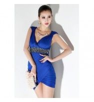 Mini Vestido Sexy azul Lycra www.shoppingcity.com.br