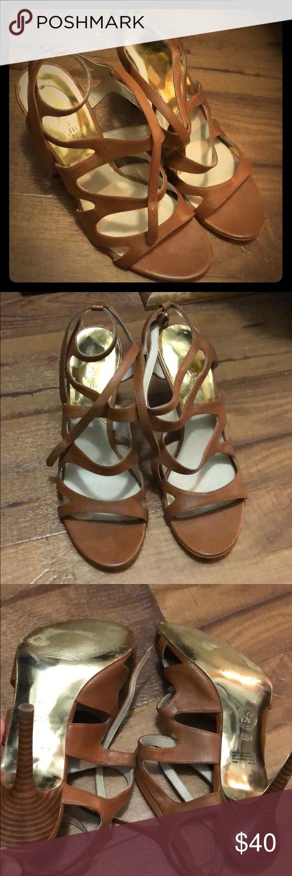 7beed9634cd Michael Kors Heels Tan Michael Kors heels worn once! MICHAEL Michael Kors  Shoes Heels