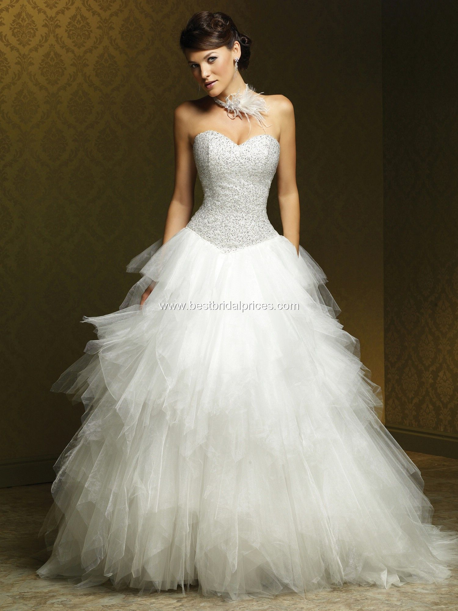 White and silver wedding dresses  Vestido de Novia VN frente  Talle  en color blanco