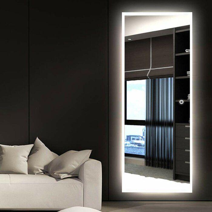 Molloy LED Dimmable Frameless Lighted Full Length Mirror ...