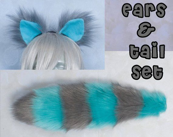 Cheshire Cat Tail Cosplay Accessories costume and//or Legwarmers Set Ears