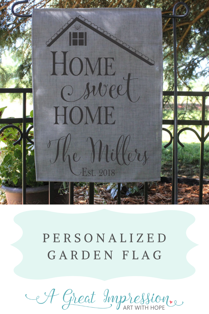 Personalized Garden Flag Home Sweet Home With Images Personalized Garden Flag Garden Flags Personalized Decor