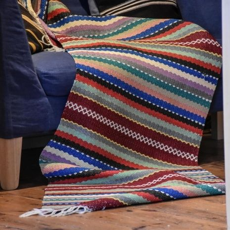 Swedish Plastic Woven Rugs