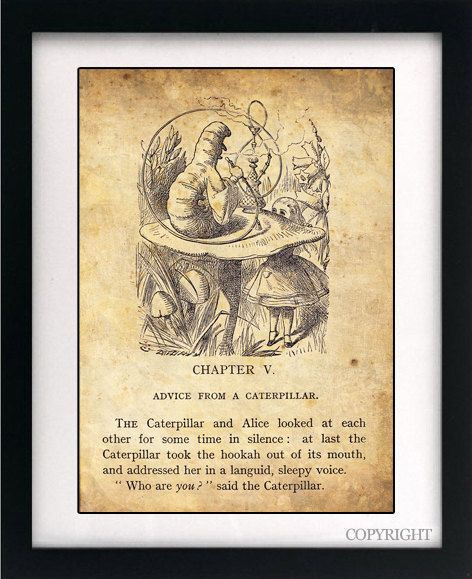Alice In Wonderland Book Quotes: Alice In Wonderland Art Book Print A3 Or A4 By