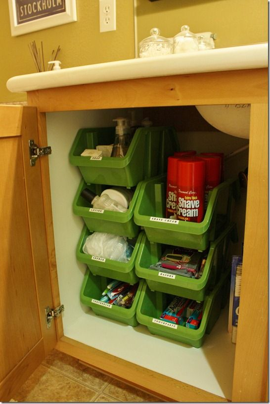 Stacking Bins From The Dollar Tree For Under Sink Storage Under Sink  Organization Bathroom, Organize