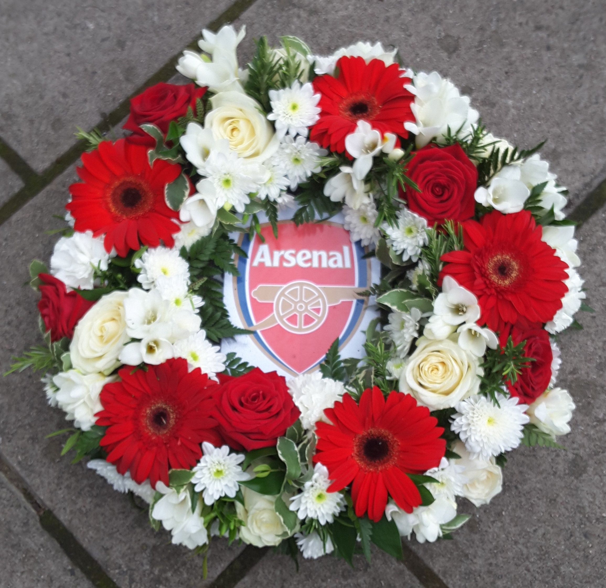 Another Arsenal Bespoke Funeral Wreath Seasons Funeral Tributes